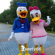 2Pcs Best Quality Cartoon Character Donald and Daisy Ducks Mascot Custom Costume