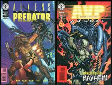 Aliens vs Predator Mixed Comic Lot Booty & Annual Dark Horse AvP Bagged Boarded