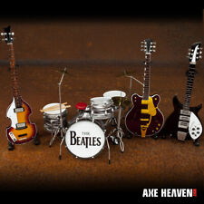Beatles 1:4 scale SET of 3 Classic Mini Guitars with Ringo Starr Drum Kit