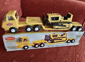 TONKA LOWBOY & DOZER No.695 Yellow With Box
