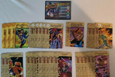 Marvel Overpower CCG Complete Acolytes Player Set Hero Card + Specials 28 Cards