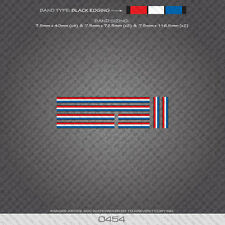 0454 French Separation Stripes Bands - Bicycle Decals Stickers - Gold Edges