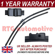 """FOR VW GOLF MK5 2003-2005 DIRECT FIT FRONT AERO WIPER BLADES PAIR 24"""" + 19"""""""