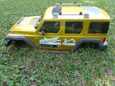 LARGE BODY ONLY 1/6 SCALE 2005 NIKKO JEEP RESCUE RC CRAWLER BODY LIME GREEN