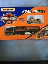 1992 MATCHBOX ROAD RIDERS HARLEY DAVIDSON MOTORCYCLE AND SEMI TRUCK