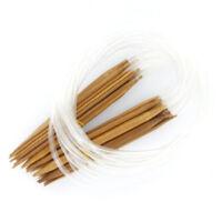 18 Groesse 2.0mm-10.0mm Bambus Rundstricknadeln(Laenge: 60CM) S2