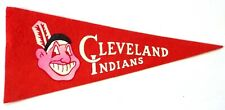 "Vintage CLEVELAND INDIANS Mini 9"" Felt Pennant OH Major League Baseball MLB"