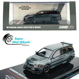 INNO64 1:64 Mitsubishi Lancer Evolution IX Wagon (Gray) w/ Extra wheels