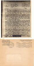 "USA 1944, ""U.S. POSTAL SERVICE No. 1 1944"" Bon. - STPL. V-mail-Service-Enveloppe"
