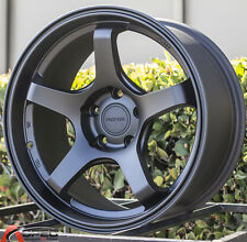 17X9 +42 ROTA RT-5R 5X100 BLACK WHEELS Fits Vw Jetta Golf Gti Passat Beetle MK3