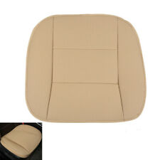 Beige Universal PU Leather Full Surround Car Front Seat Cover Protector Covers