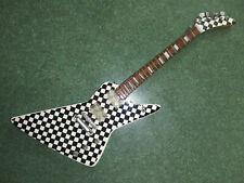 Rick Nielsen-White/Black Checkered Explorer 1:4 Scale Replica Guitar~Axe Heaven