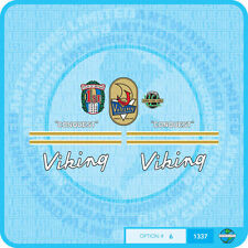 Viking - 1960's Conquest Bicycle Decals Transfers - Stickers - Set 6