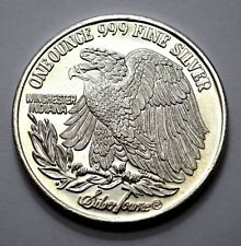 UNC 1 TROY OZ .999 FINE SILVER ROUND, EAGLE , SILVERTOWNE , WINCHESTER INDIANA