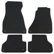 For Audi A4 B9 2016+ Fully Tailored 4 Piece Rubber Car Mat Set 8 Clips