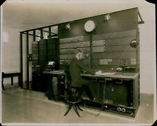 GA16 Original Photo SIGNAL LINE SWITCHBOARD Vintage Telecommunications Wires