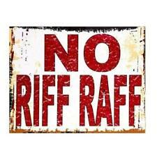 NO RIFF RAF METAL VINTAGE ADVERTISING BAR PUB MAN CAVE SHED GARDEN GARAGE SIGN