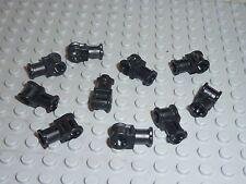 10 x LEGO Technic Connector With Axlehole Black Réf.32039 Set 8295/8253/8446....