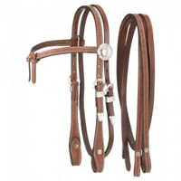 King Series Chestnut Miniature Futurity Brow Headstall w/Silver Horse Tack
