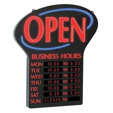 Newon LED Sign w/Programmable Business Hours & Flashing Effects & WARRANTY