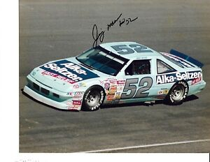 Autographed Jimmy Means NASCAR Auto Racing Photograph