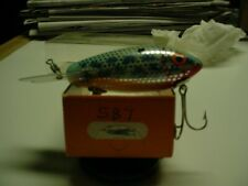 vintage wood bomber lure model 587 new in box. beautiful lure new in box