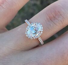 Lovely 0.90 Ct Oval Cut Morganite & Round Pave Twist Shank Engagement Ring 14K