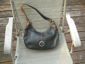 DOONEY & BOURKE All Weather Leather Black Handbag/Hobo