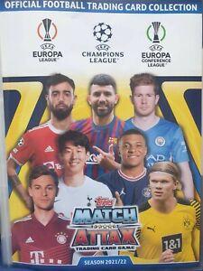 Match Attax Champions League 2021/2022 limited edition Chrome CR13 CR14 SH13 etc