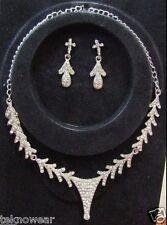 Catherine Fashionable CZ Necklace Set by Teknowear