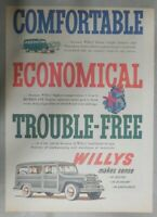 Willys Car Ad: Comfortable and Trouble Free ! from 1951 Size: 11 x 15 inches