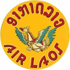 """ Air Laos "" Airlines 1950's  Vintage Style  Travel Decal  Sticker Luggage Label"