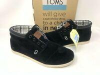 NEW! Toms Men's Ridge Botas Suede Lace Up Casual Mid Shoes Black #01608 W56 z