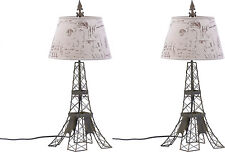 Set of Two (2) * 27½� Parisian Eiffel Tower Sculptured Table Lamps * * Nib