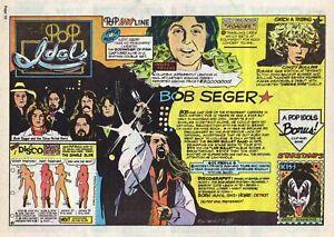 Pop Idols by Drake - Gene Simmons KISS - full page Sunday comic April 15, 1979