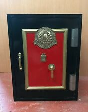 More details for milners safe with key.  antique / vintage safe. very secure & heavy