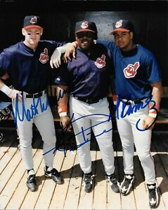 Matt Williams, Kevin Mitchell, & Manny Ramirez signed 8x10 photo