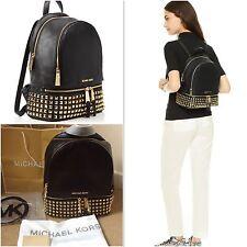 Genuine Michael Kors Medium Rhea Studded Black Backpack Rrp £390