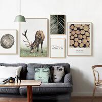 Scandinavian Poster Wall Art Canvas Print Deer Wood Nordic Decoration Picture