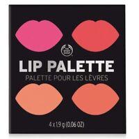 "The Body Shop Poppy Lip Color Palette Lipstick ""Read My Lips"" 4 Shades NEW"