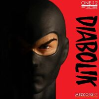 Mezco One:12 Collective Diabolik Action Figure Fumetti Neri Comics New In Stock