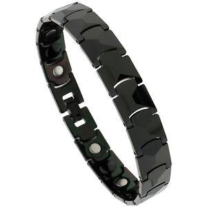 Tungsten Black Magnetic Bracelet w/ Faceted Links