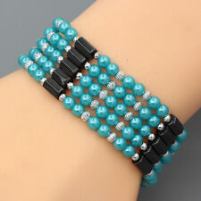 Hematite Magnet Magnetic Acrylic Beads Bracelet Necklace DIY Various Designs