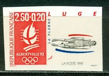 France Olympische Spiele Olympic Games 1992 Imperforated Luge MNH
