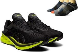 New Men's ASICS NovaBlast Running Shoes Size 9-13 Black/Lime Zest 1011A681-003