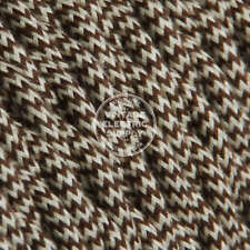 Ivory Brown Cotton Twisted Cloth Covered Electrical Wire - Braided Fabric Wire