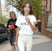 Vogue T Shirt Celebrity Fashion Top New White Womens Celine Tumblr UK Summer