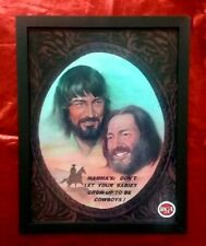 """Waylon & Willie -  framed photo  """"Mamma's Don't Let Your Babies....""""  9 X 12"""