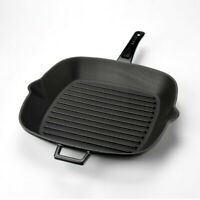 Cast Iron Square Skillet Grill Pan - Enameled Non Stick Fry Pan - Griddle Pan
