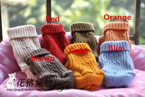 Dog Puppy Jumper Sweater Knit Warm Xmas Sweatshirt for Shih Tzu Yorkie XXXS XXS